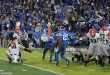 LEXINGTON, KY - NOVEMBER 05: Rodrigo Blankenship (98) Georgia Bulldogs place kicker kicking the game winning field goal during the game between the Georgia Bulldogs and Kentucky Wildcats. The Georgia Bulldogs (27) defeated the Kentucky Wildcats (24) on November 05, 2016, at Commonwealth Stadium in Lexington, KY.(Photo by Jeffrey Vest/Icon Sportswire)