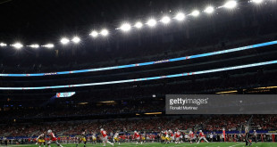 during the Goodyear Cotton Bowl at AT&T Stadium on December 29, 2017 in Arlington, Texas.