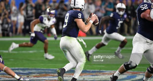 Penn State Nittany Lions against the Washington Huskies during the Playstation Fiesta Bowl at University of Phoenix Stadium on December 30, 2017 in Glendale, Arizona.