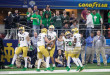 ARLINGTON, TX - DECEMBER 29: Notre Dame Fighting Irish players including cornerback Shaun Crawford (#20), wide receiver Chase Claypool (#83) and linebacker Bo Bauer (#52) celebrate a special teams play during the Goodyear Cotton Bowl College Football Playoff Semifinal game between the Clemson Tigers and Notre Dame Fighting Irish on December 29, 2018 at AT&T Stadium in Arlington, Texas.  (Photo by Matthew Visinsky/Icon Sportswire via Getty Images)