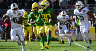 SANTA CLARA, CA - DECEMBER 31: Oregon Ducks Wide Receiver Jaylon Redd (30) during the Redbox Bowl between the Michigan State Spartans and the Oregon Ducks at Levi's Stadium on December 31, 2018 in Santa Clara, CA. (Photo by Cody Glenn/Icon Sportswire via Getty Images)